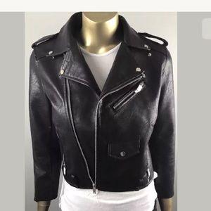 Zara Basic moto jacket  Vegan leather